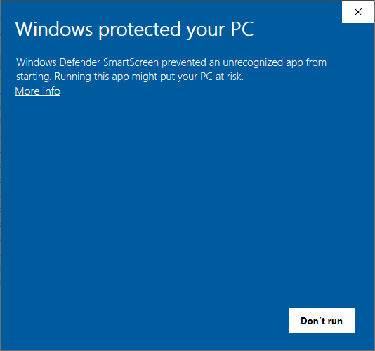 Ixian DLT Windows Defender SmartScreen